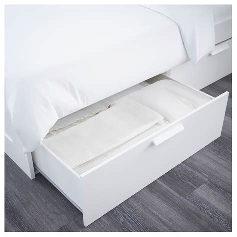 ikea king size bed headboard brimnes bed frame w storage and headboard white standard