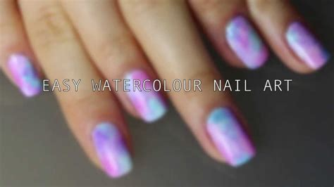 tutorial nail art youtube nail tutorial easy watercolor nail art youtube