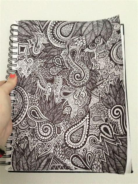 notebook doodle pattern details artistic inspiration pinterest notebook
