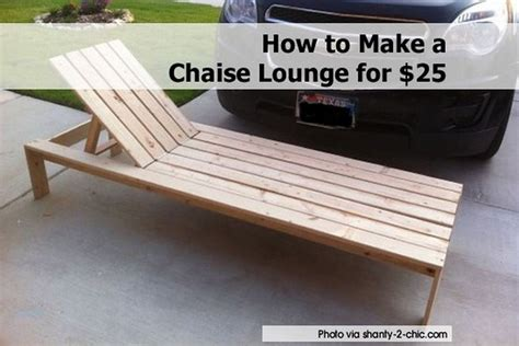 How To Make A Chaise Lounge For 25