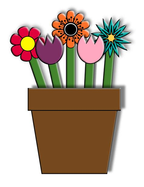 Flower Pot Paper Craft - paper flower pot craft for smarty free