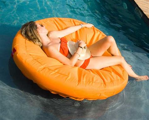 sunsoft fabric covered swimming pool lounger