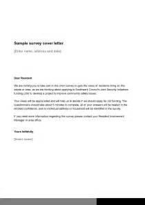 questionnaire cover letter sle the best letter sle
