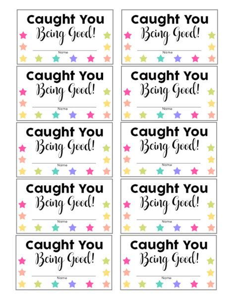 printable caught being good tickets search results for caught you being good printables