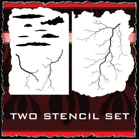 lightning strikes airbrush stencils store air brushing