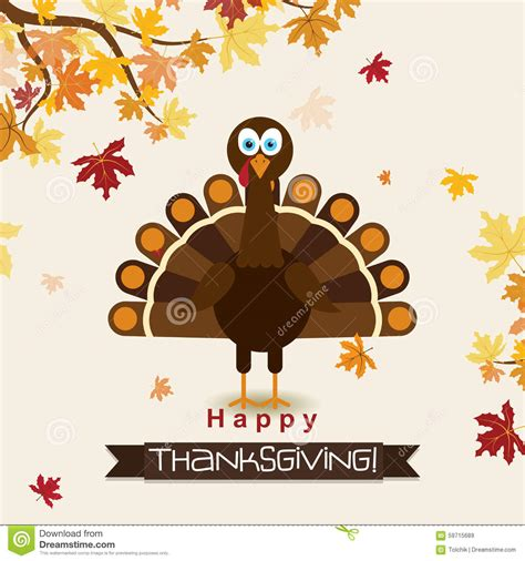 thanksgiving greeting card templates template greeting card with a happy thanksgiving turkey