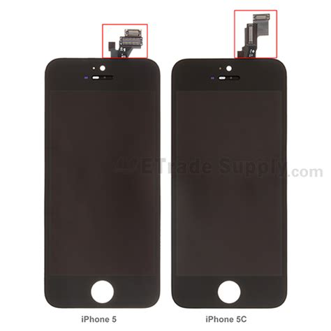 Lcd Touchscreen Iphone 55g apple iphone 5c lcd screen and digitizer assembly with frame and home button black etrade supply