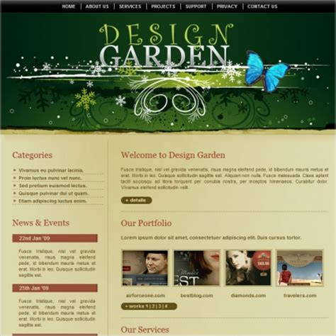 Homepage Design Vorlagen Html Design Garden Template Free Website Templates In Css Html Js Format For Free 301 48kb