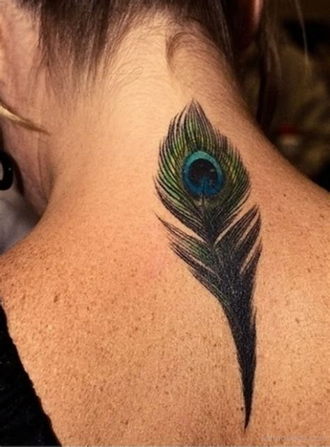 tattoo feather on finger black ink peacock feather tattoo on girl finger