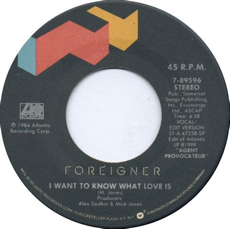 film foreigner i want to know what love is 1985 all charts weekly top 40