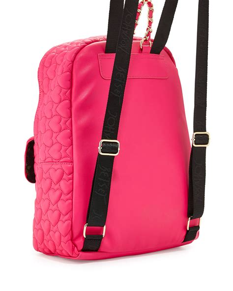 Betsey Johnson Quilted Backpack by Betsey Johnson Be Mine Forever Quilted Backpack In Pink Lyst