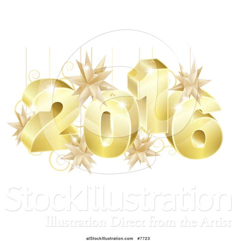 new year ornament vector free vector illustration of a 3d gold new year 2016 with