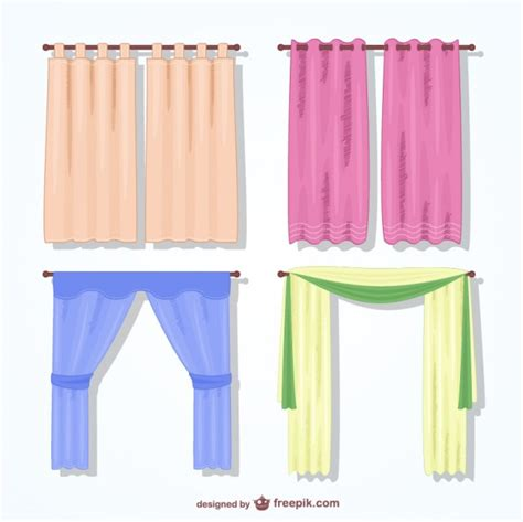 Windshield Mini Vector Sectbill colorful curtains pack vector free