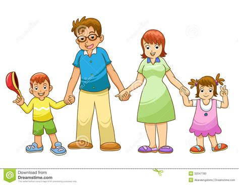 family holding hand stock vector illustration  people