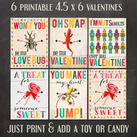 Boys Valentines Day Card Templates 5 adorable printable s day cards on etsy