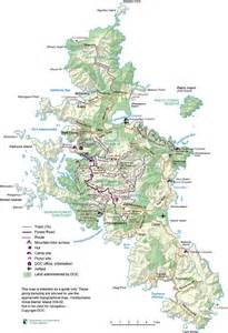 department of conservation walking track map of great
