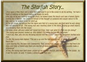 One person can make a difference starfish some of the best things in