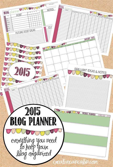 free printable blog planner 2015 free download organizer 2015