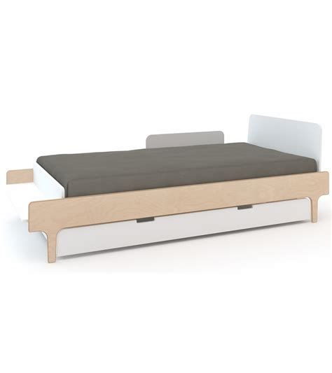 white twin trundle bed oeuf river twin bed trundle white