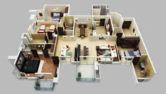 3d Furniture Design 4 bedroom apartment house plans