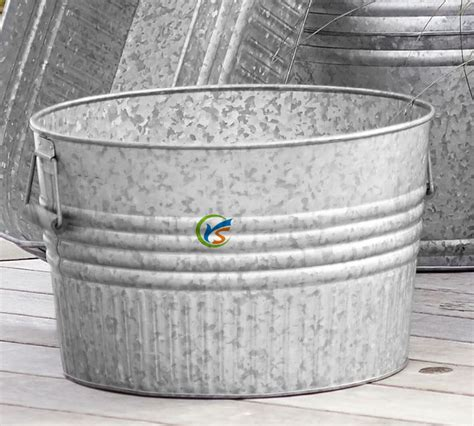 Galvanized Metal Planters Large by Galvanized Metal Garden Decoration Outdoor Large Plant