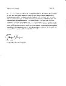 Letter Of Recommendation For A Highschool Student From A by School Student Recommendation Letter