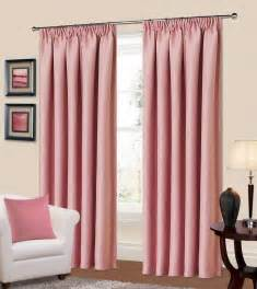 Livingroom Curtain Plain Baby Pink Colour Thermal Blackout Bedroom Livingroom