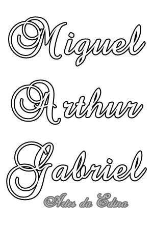Letras | Riscos para pintura nomes e letras | Pinterest