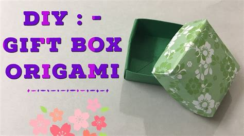 origami gift box with cover and easy diy