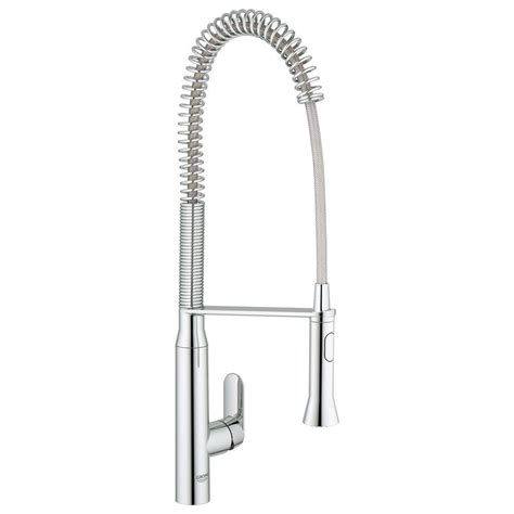 Grohe K7 Kitchen Faucet Grohe K7 Semi Pro Single Handle Pull Out Sprayer Kitchen Faucet In Starlight Chrome 32951000
