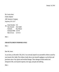 Insurance Settlement Letter Demand Demand Letter Exles