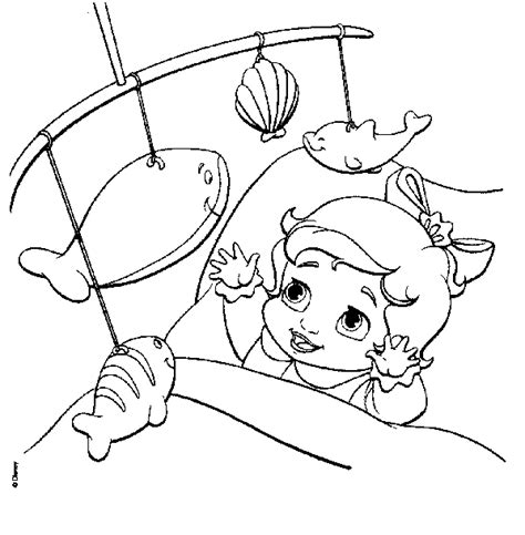 free coloring pages of little mermaid melody
