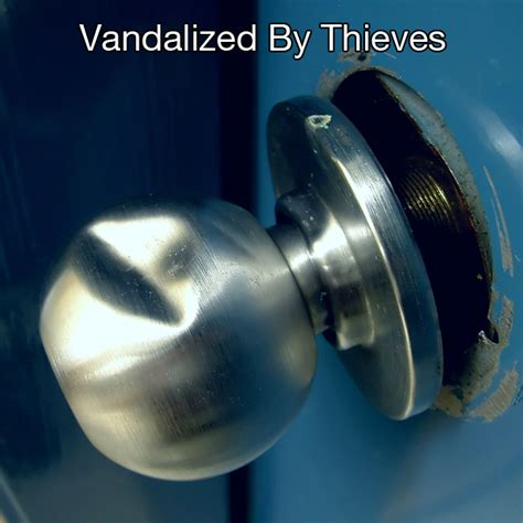 Broken Door Knob by Cone Door Knob Guard Bc Site Service