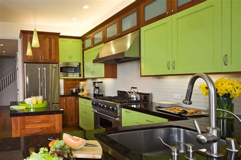 lime green kitchen cabinets x contemporary kitchen other metro by main line