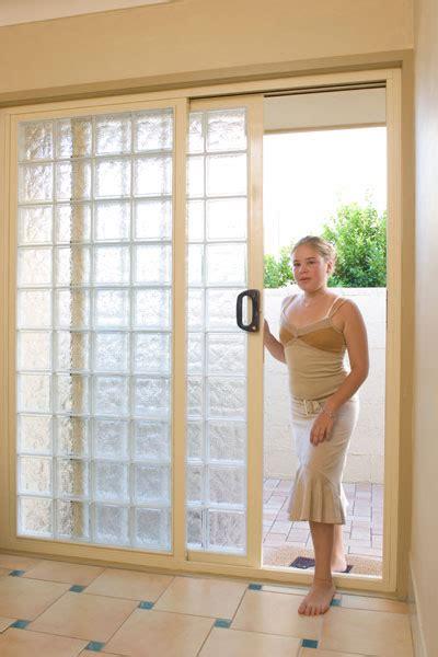 Glass Block Doors Blokup Glass Block Sliding Door