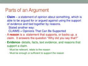 What Is A Claim In An Argumentative Essay 6 parts of an argumentative essay the toulmin model of argumentation rohan