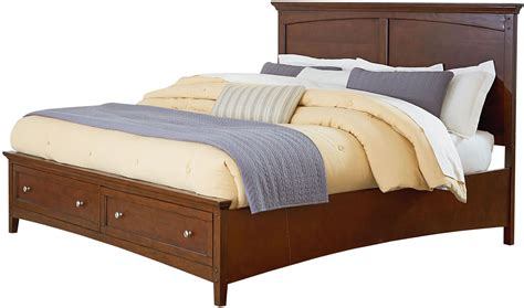 warm bed cooperstown warm spiced cherry king panel srorage bed