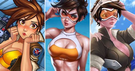 hot female overwatch characters hottest tracer fan art from overwatch