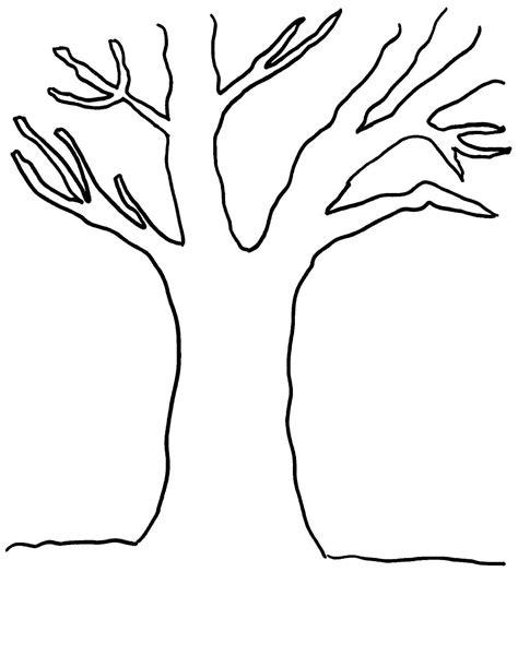 Blank Tree Coloring Page дерево без листьев раскраска детские раскраски by Blank Tree Coloring Page