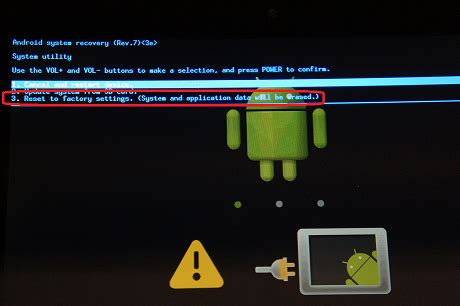 reset android error technologia sony tablet s is showing error message