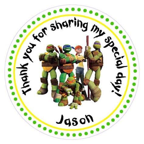 free printable ninja turtle thank you cards tmnt teenage mutant ninja turtles thank you sticker