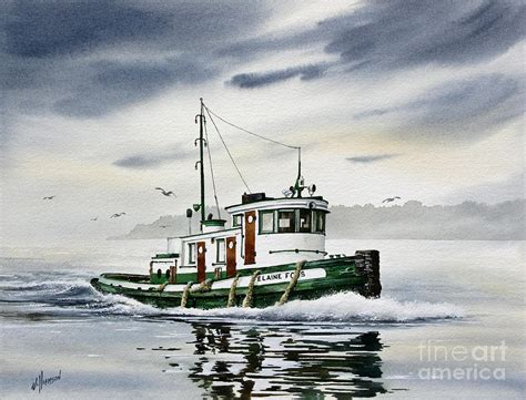 tugboat painting tugboat elaine foss painting by james williamson