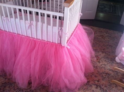 pink tulle tutu crib skirt sugar spice and everything