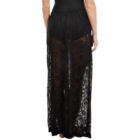 longitude sheer lace maxi skirt cover up for