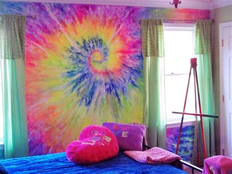 rainbow bedroom accessories tie dye teen rooms design dazzle