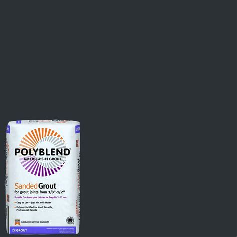 custom building products polyblend 60 charcoal 25 lb sanded grout pbg6025 the home depot