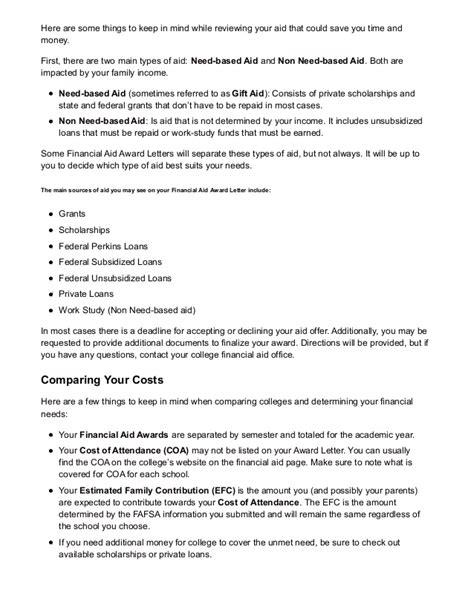Financial Award Letter Uiuc how to understand your college financial aid award letter