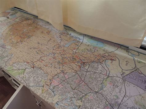 Decoupage Countertops - hometalk pop up cer redo countertops with maps