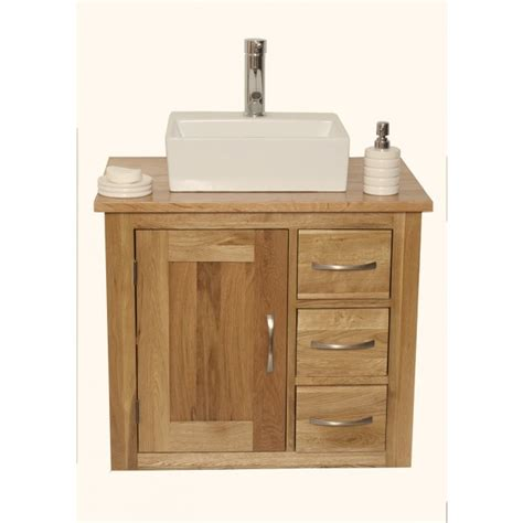 Solid Oak Vanity wall mounted bathroom vanity unit solid oak click oak