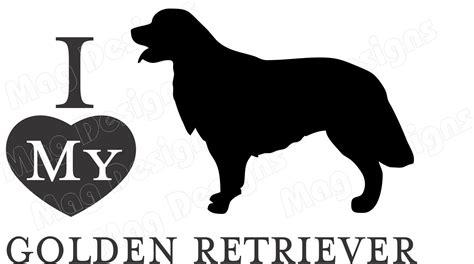 golden retriever outline golden retriever silhouette breeds picture